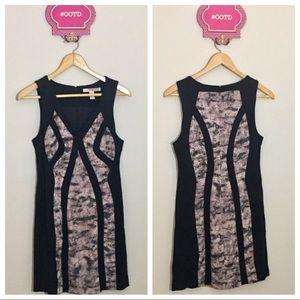 Forever 21 Bodycon Mini Dress Black Pink Print